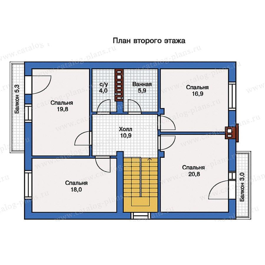 План 2-этажа проекта 57-10A