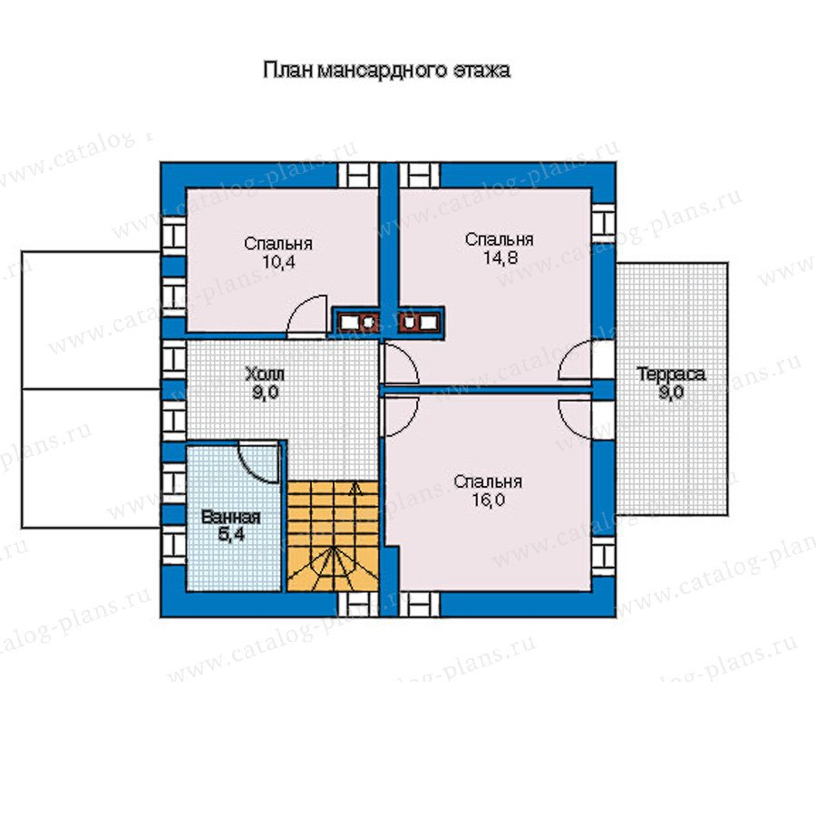План 2-этажа проекта 56-95