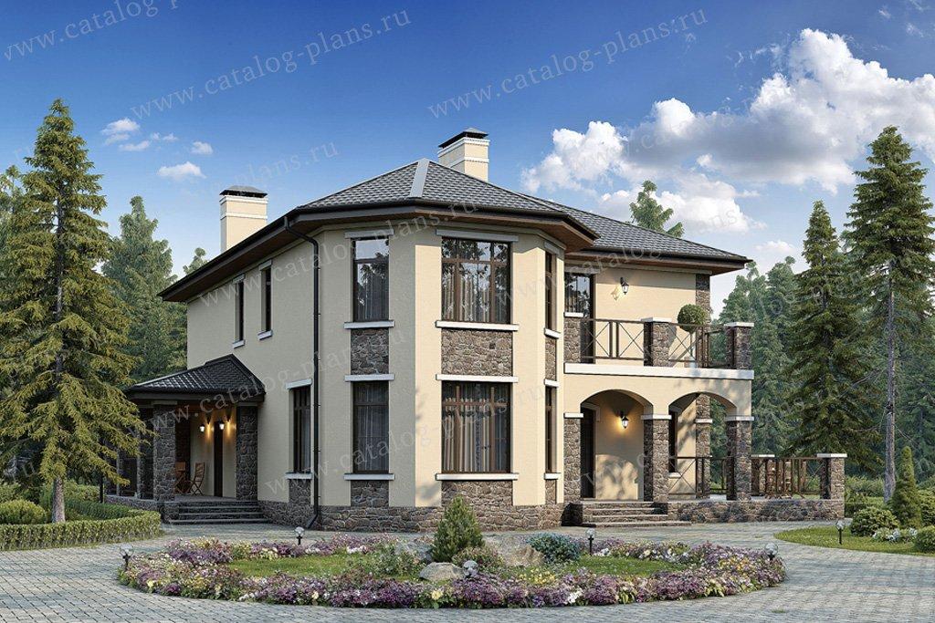 Проект жилой дом #57-04K материал - кирпич, стиль европейский