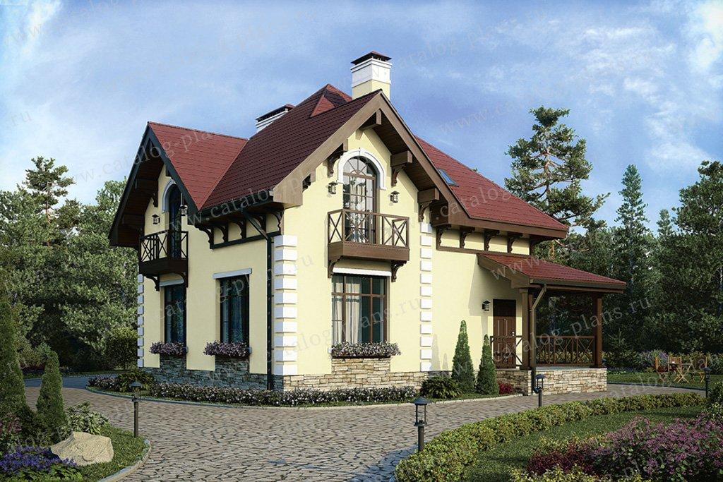 Проект жилой дом #57-08K материал - кирпич, стиль европейский