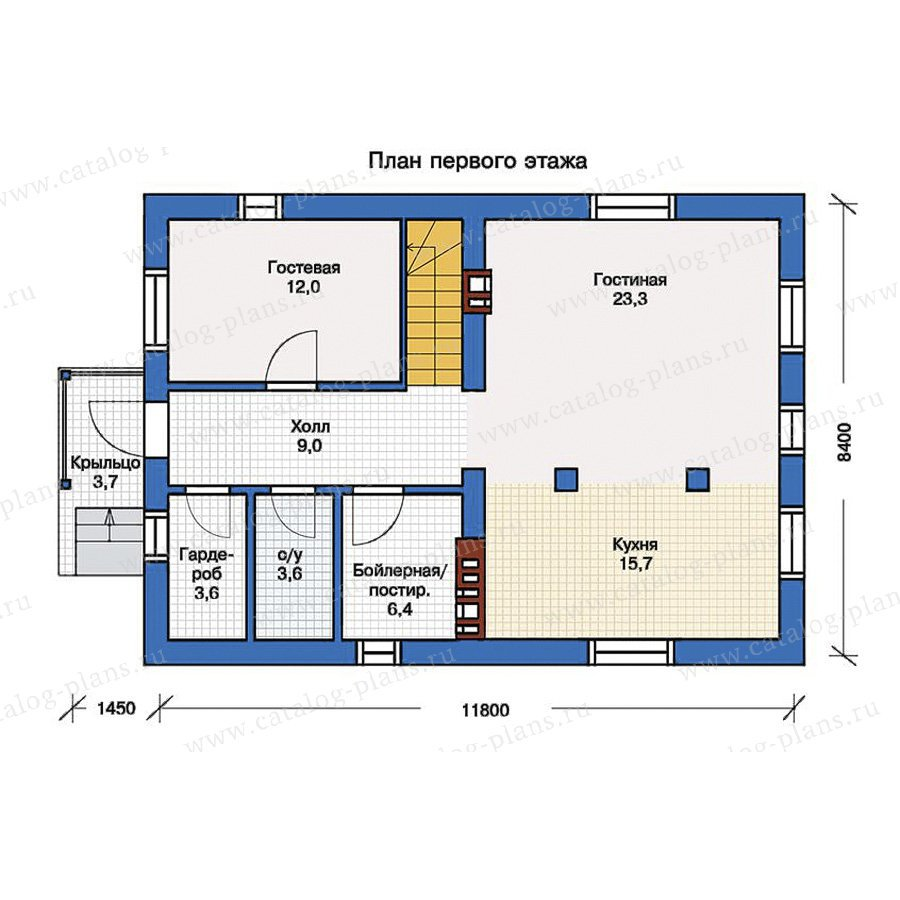 План 1-этажа проекта 57-13K