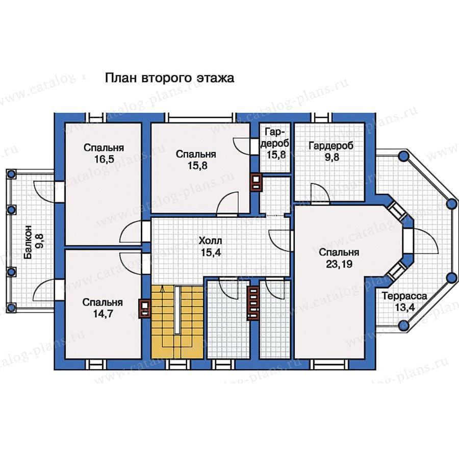 План 2-этажа проекта 57-15