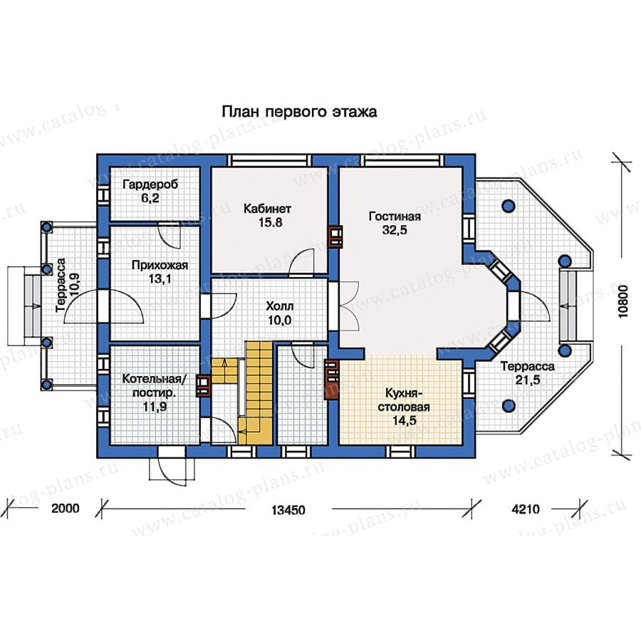 План 1-этажа проекта 57-15