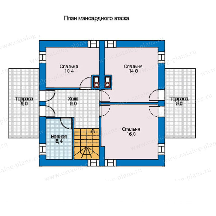 План 2-этажа проекта 56-93