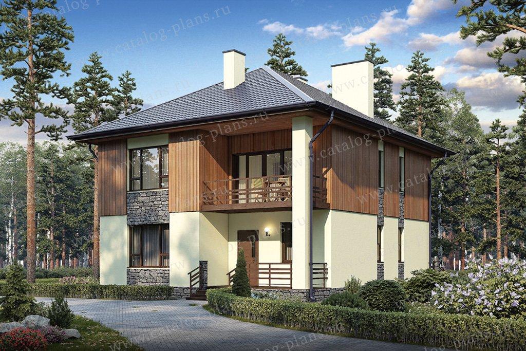 Проект жилой дом #57-19 материал - газобетон, стиль скандинавский