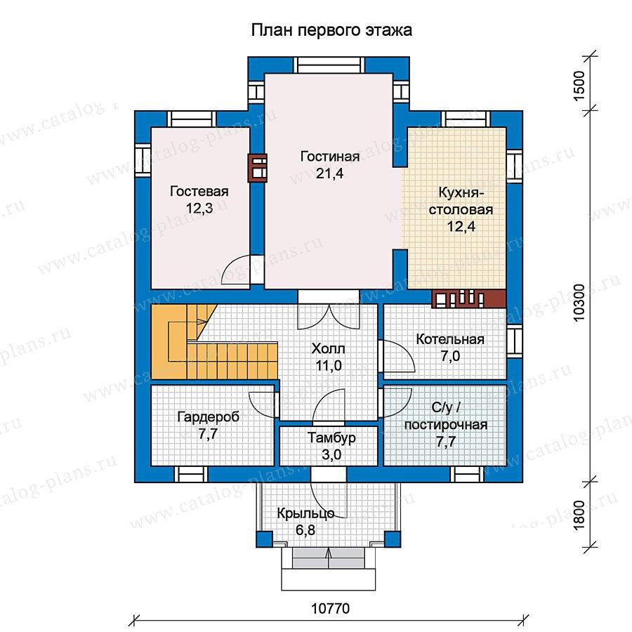 План 1-этажа проекта 57-12