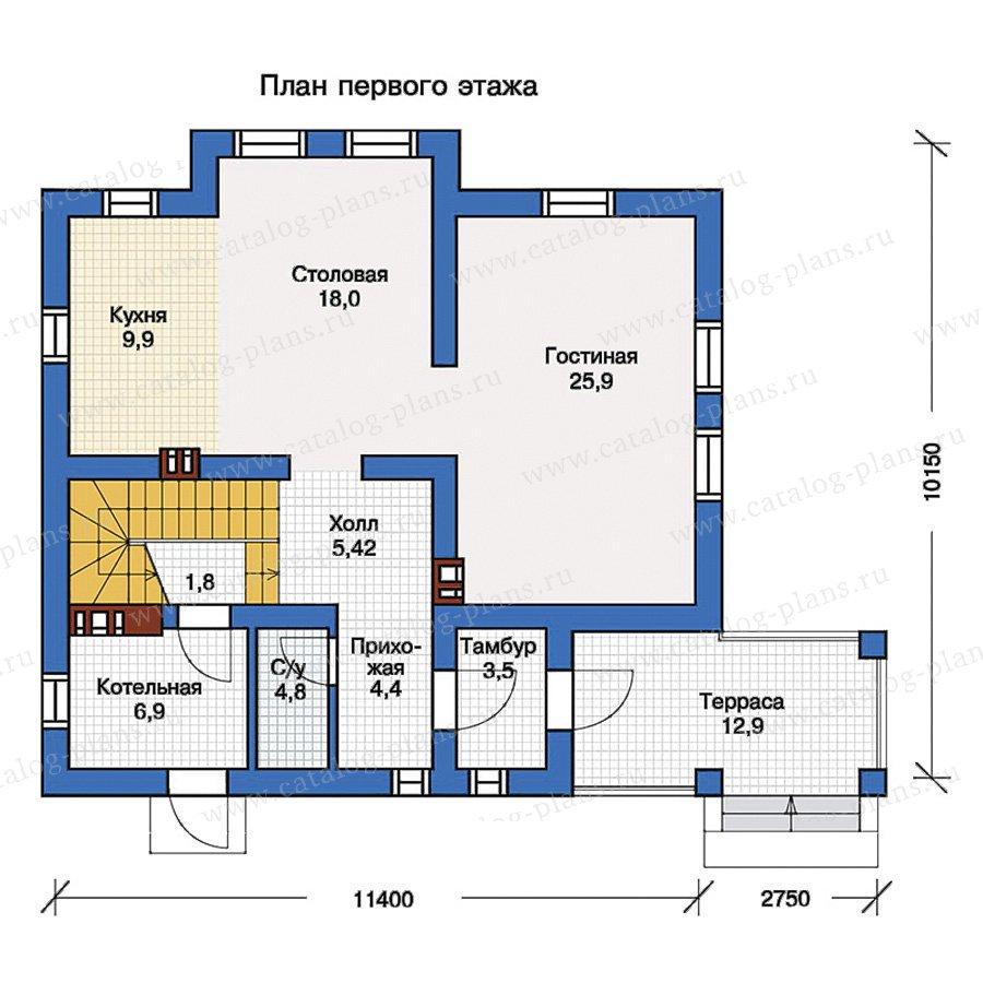План 1-этажа проекта 57-16