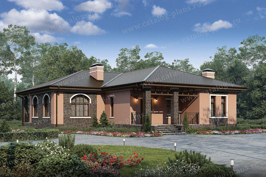Проект жилой дом #57-06 материал - газобетон, стиль европейский