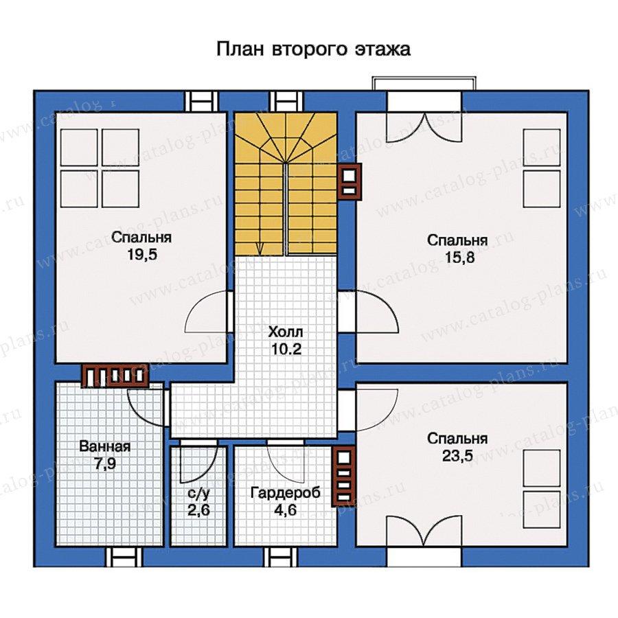 План 2-этажа проекта 57-09
