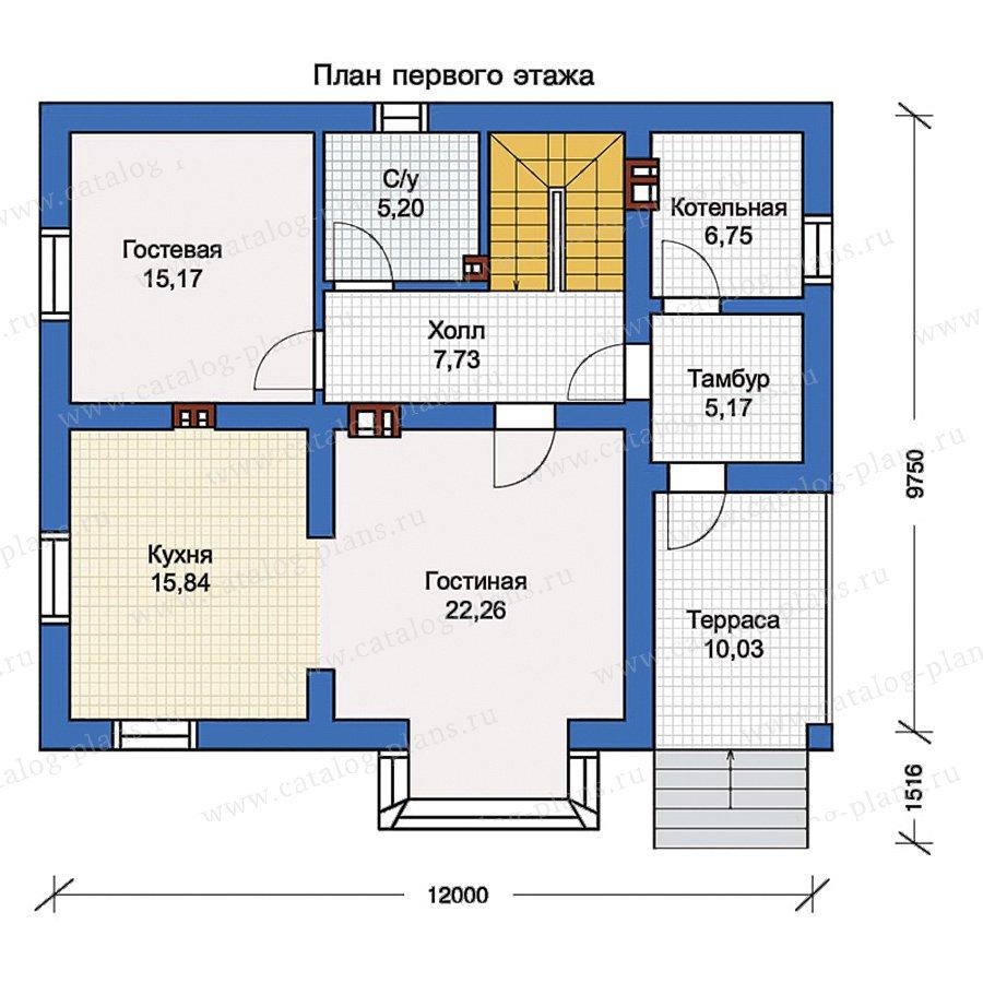 План 1-этажа проекта 56-99