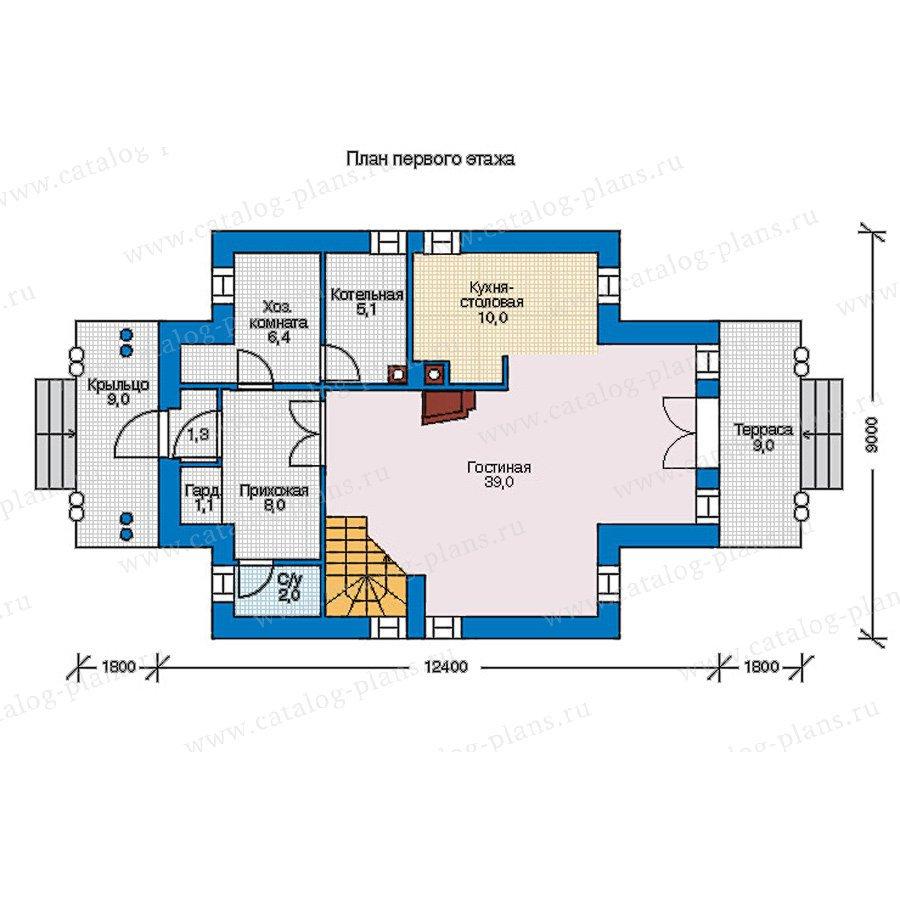 План 1-этажа проекта 56-94