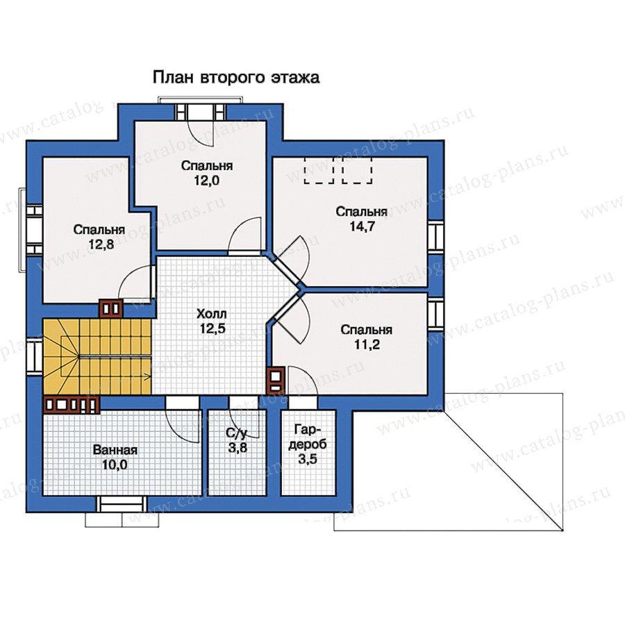 План 2-этажа проекта 57-16