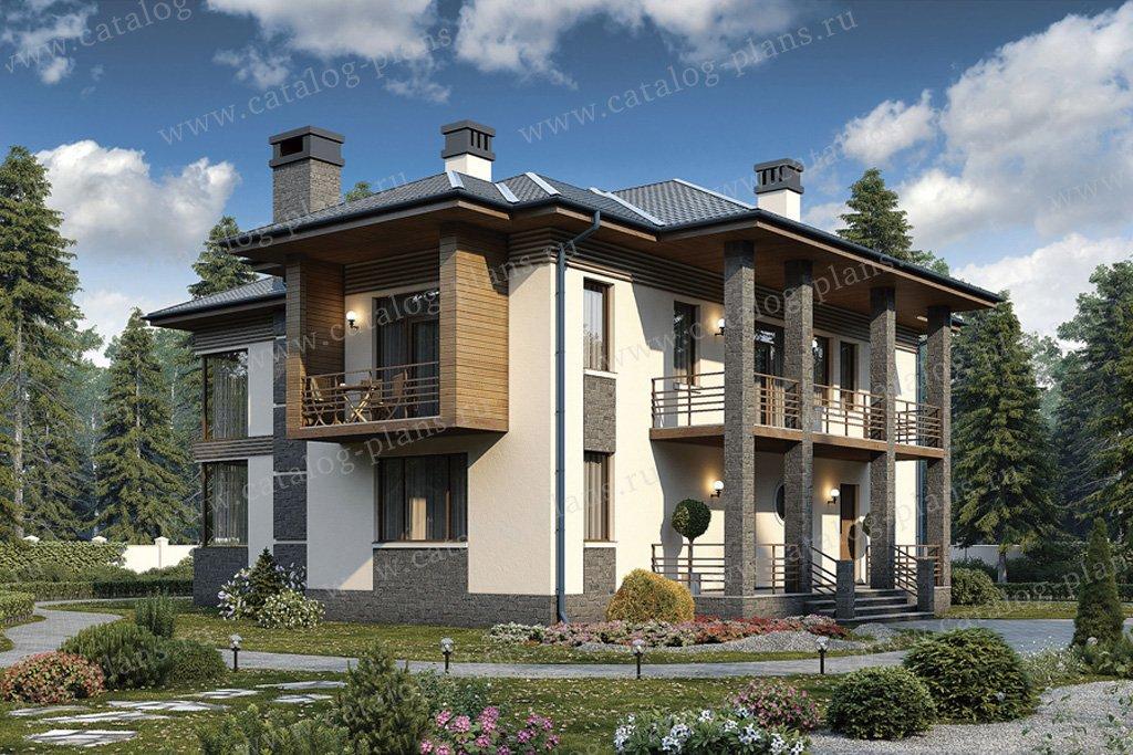 Проект жилой дом #57-18K материал - кирпич, стиль современный