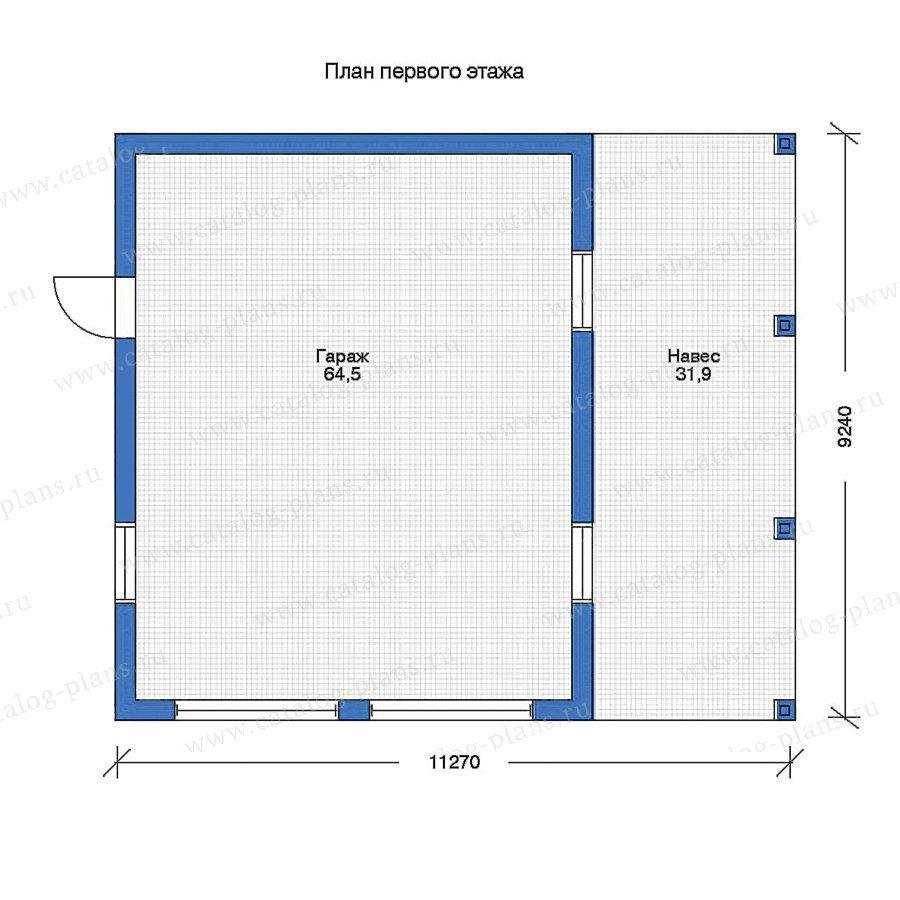 План 1-этажа проекта 90-05