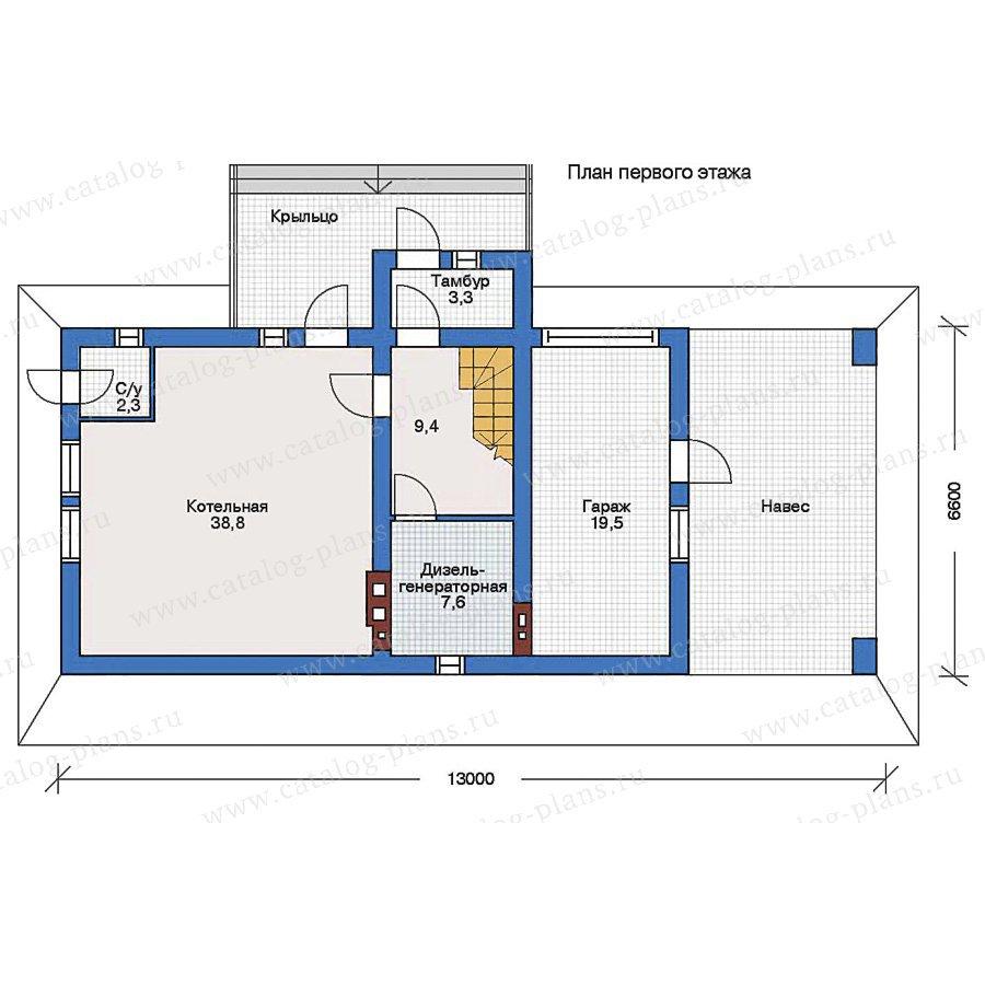 План 1-этажа проекта 90-01