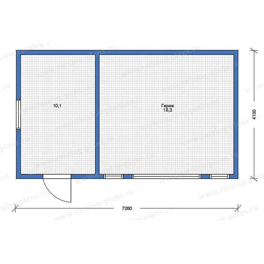 План 1-этажа проекта 90-10