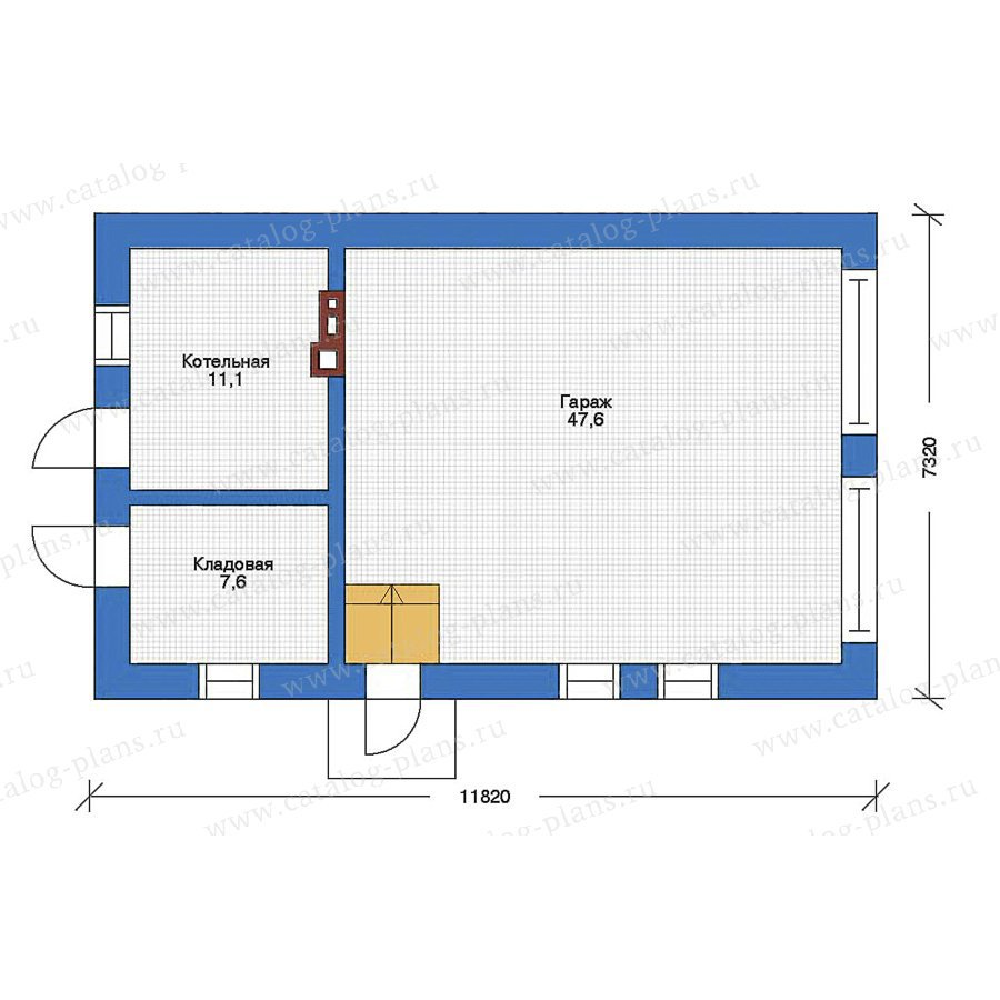 План 1-этажа проекта 90-09