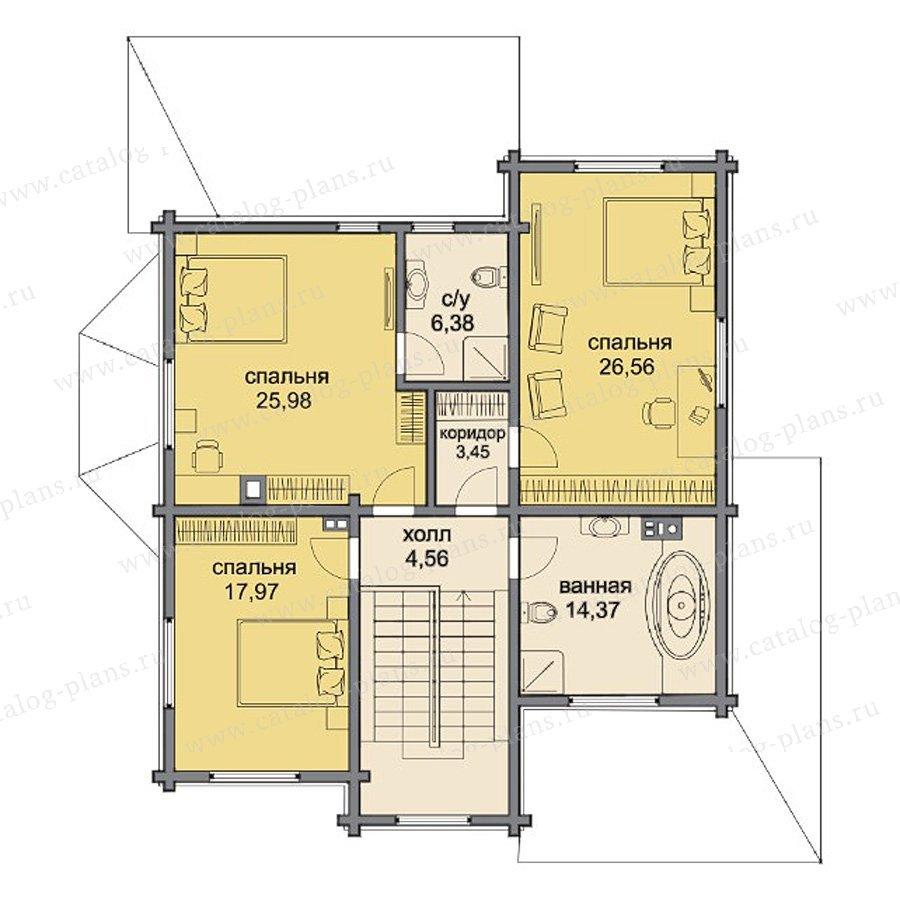 План 2-этажа проекта 80-14