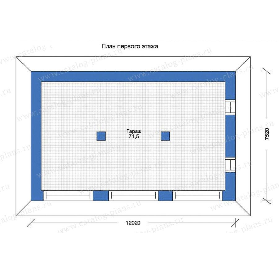 План 1-этажа проекта 90-04