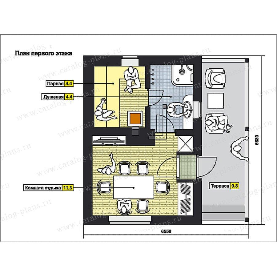 План 1-этажа проекта 70-54