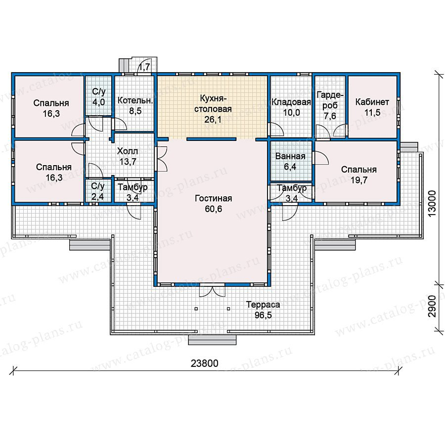 План 1-этажа проекта 70-28