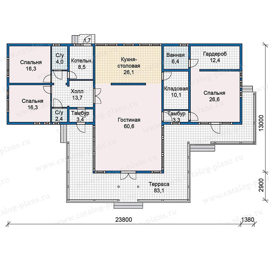 План 1-этажа проекта 70-27