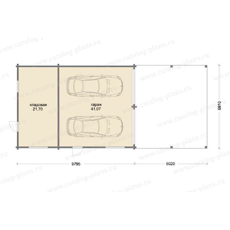 План 1-этажа проекта 70-49