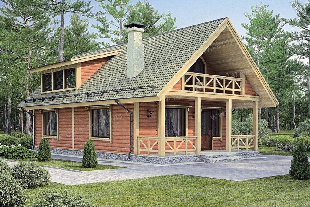 Проект жилой дом #70-19 материал - дерево, стиль скандинавский