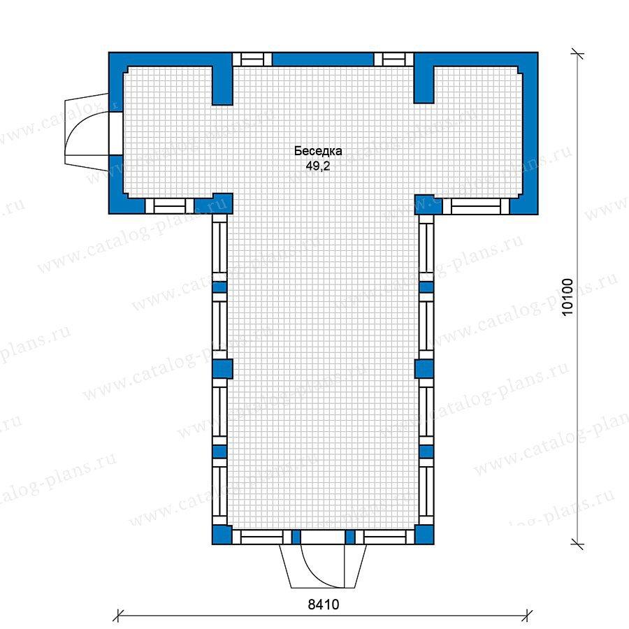 План 1-этажа проекта 70-39