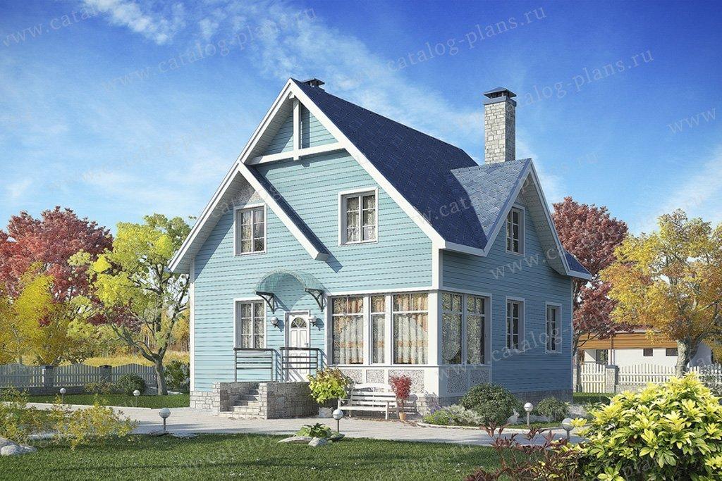Проект жилой дом #70-53 материал - каркас, стиль скандинавский