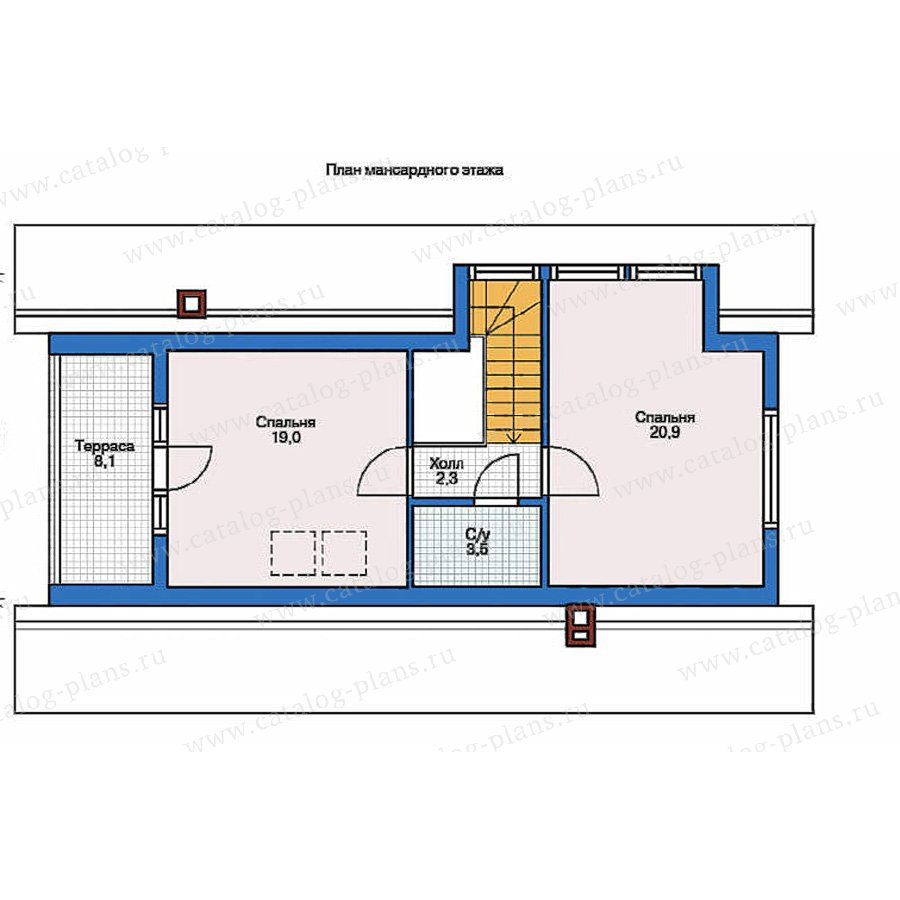 План 2-этажа проекта 70-19