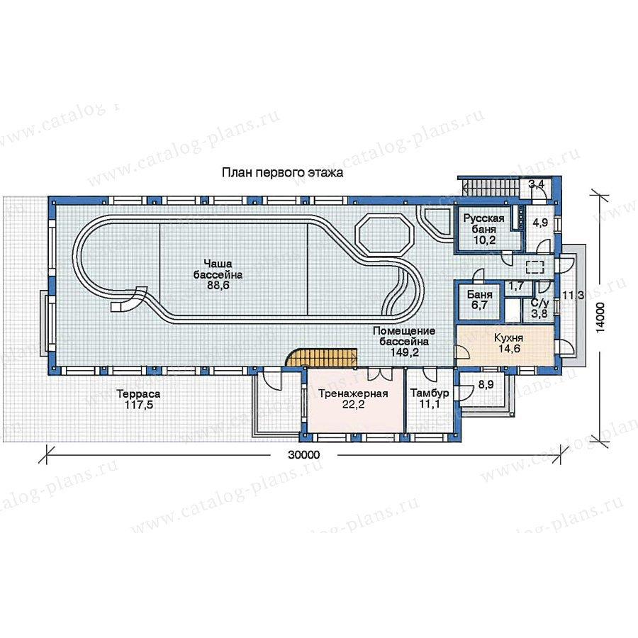 План 2-этажа проекта 70-18