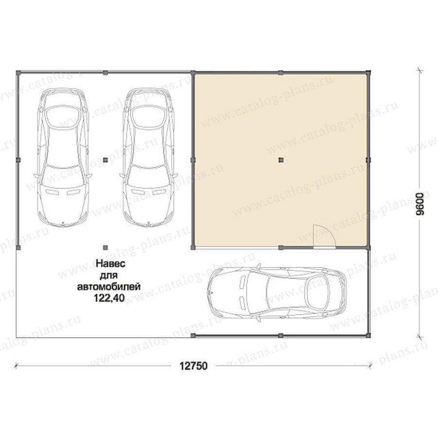 План 1-этажа проекта 70-51