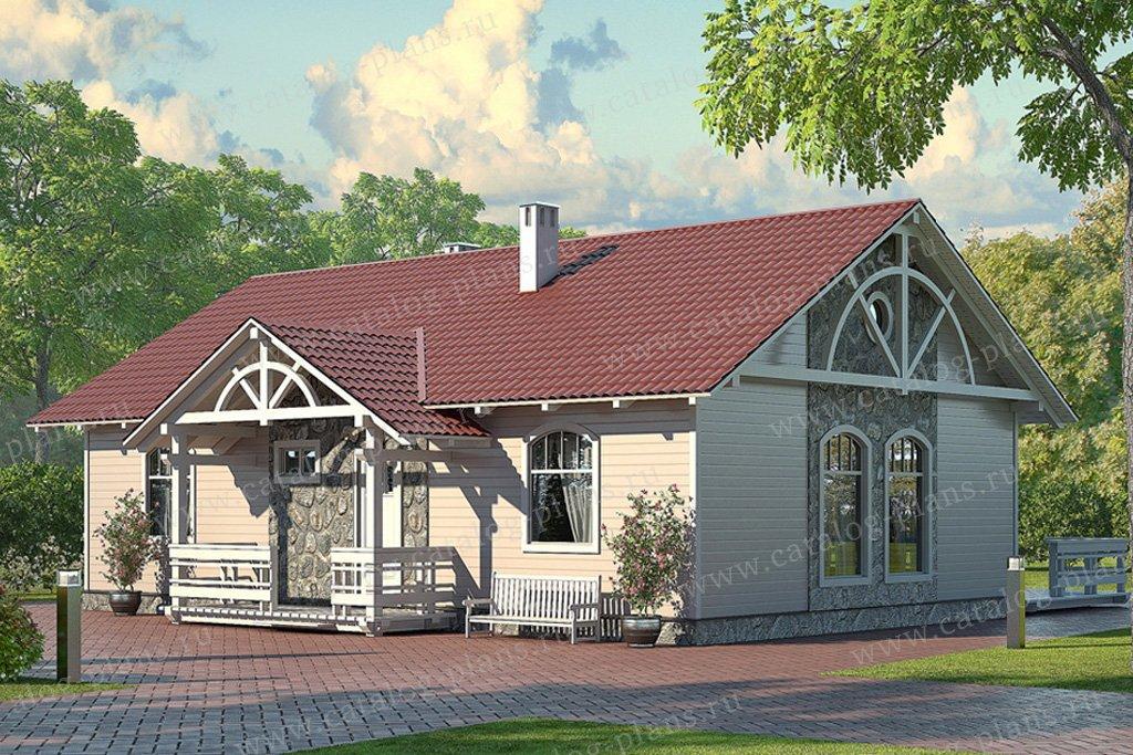 Проект жилой дом #70-29 материал - каркас, стиль скандинавский