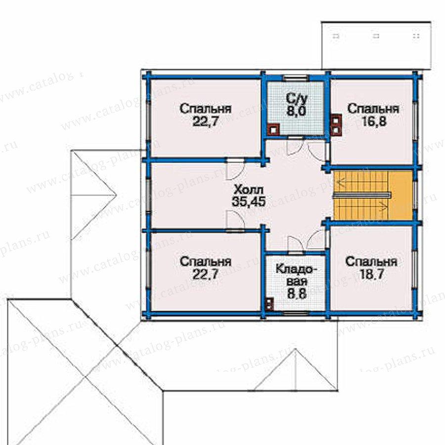 План 3-этажа проекта 80-12