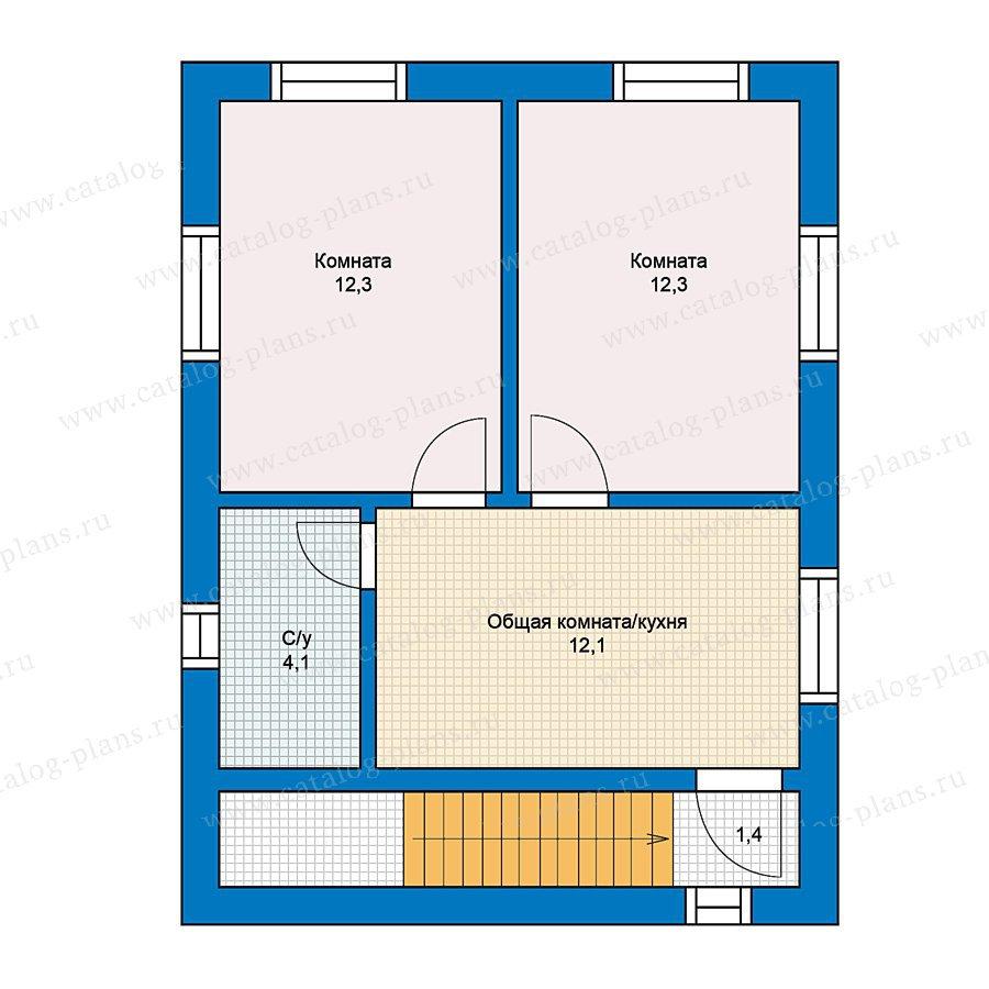План 2-этажа проекта 70-22