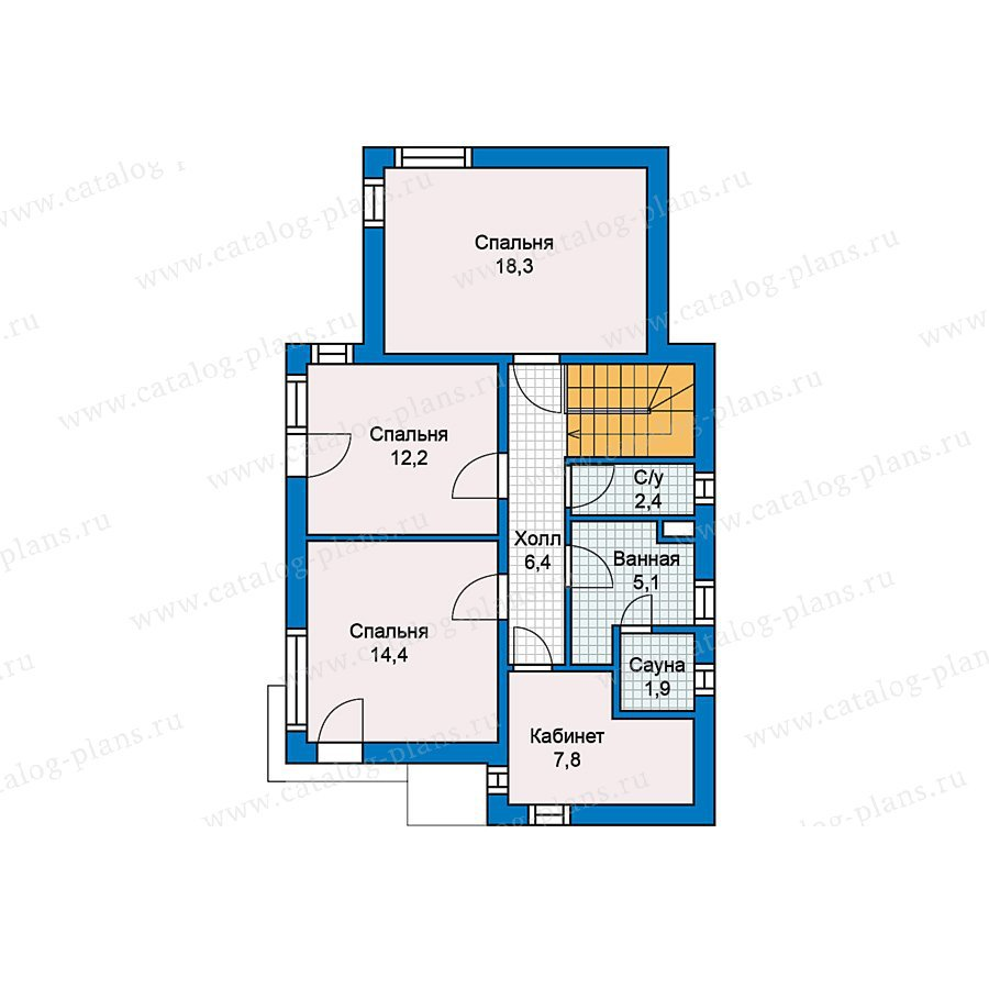 План 2-этажа проекта 70-25
