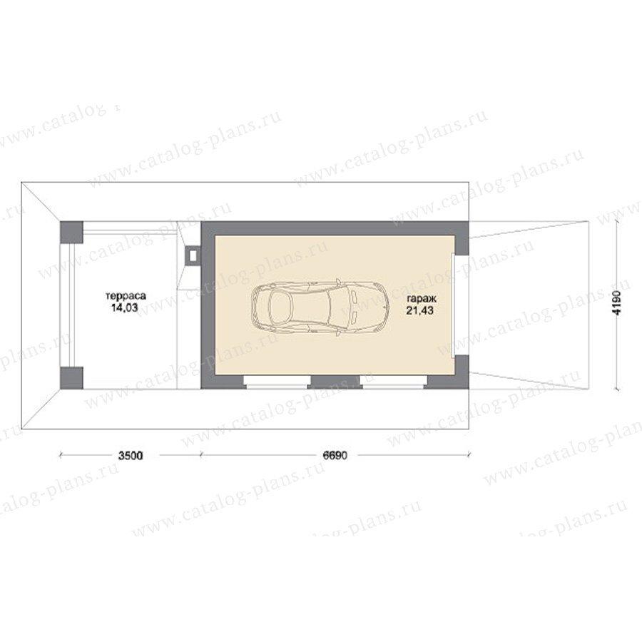 План 1-этажа проекта 70-50