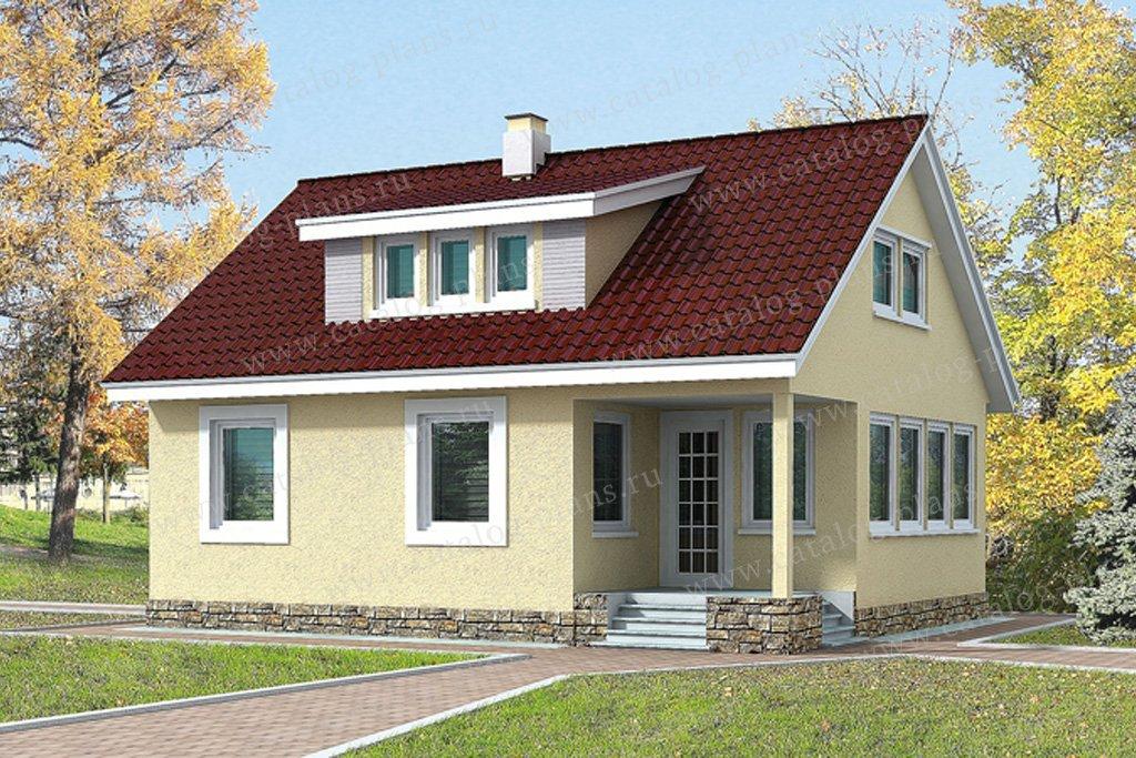 Проект жилой дом #70-08 материал - каркас, стиль европейский