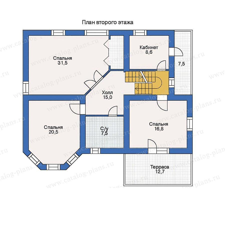 План 2-этажа проекта 80-05