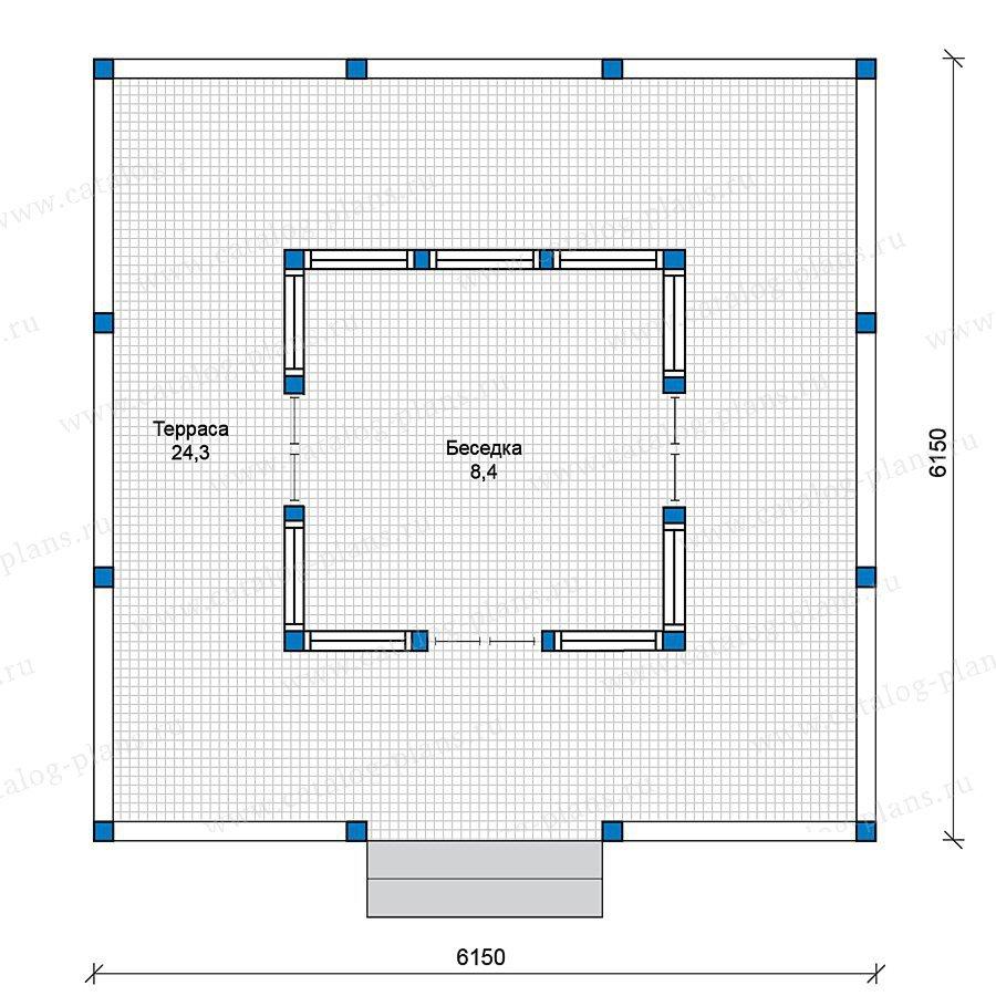 План 1-этажа проекта 70-37
