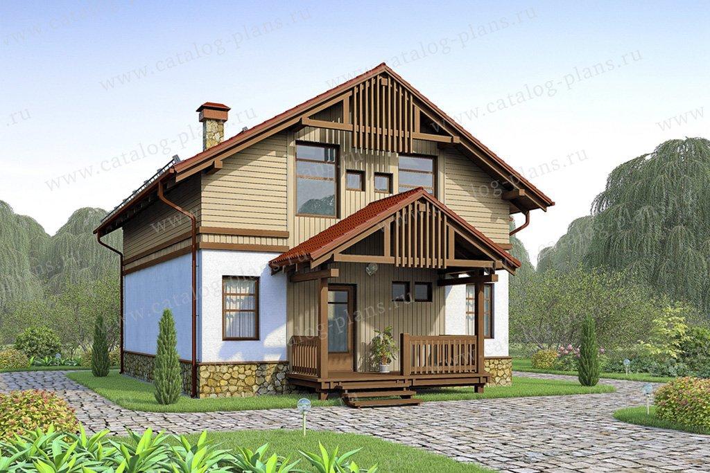 Проект жилой дом #70-44 материал - каркас, стиль скандинавский
