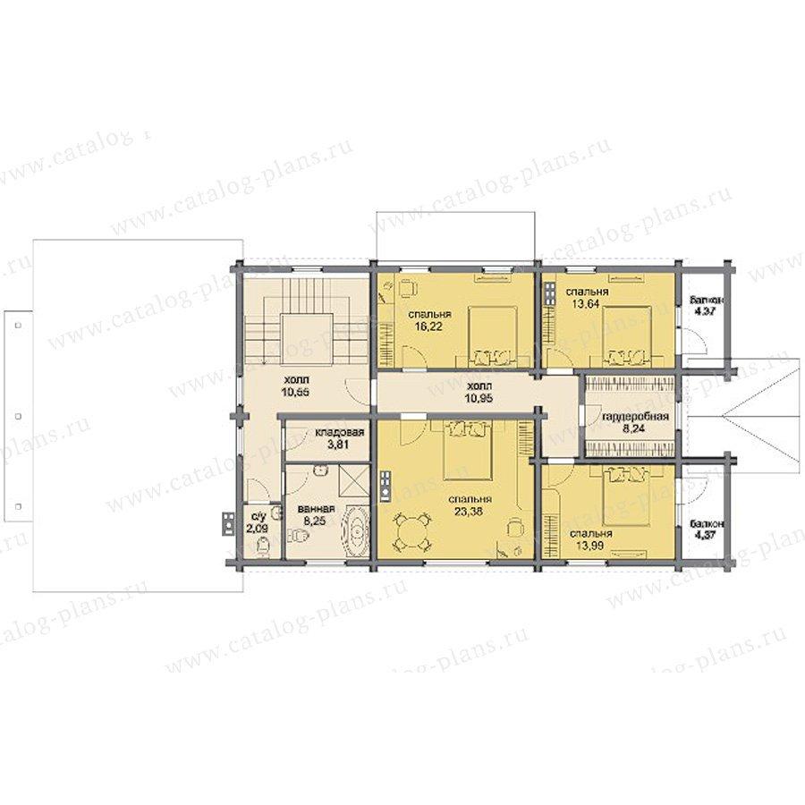 План 3-этажа проекта 80-13