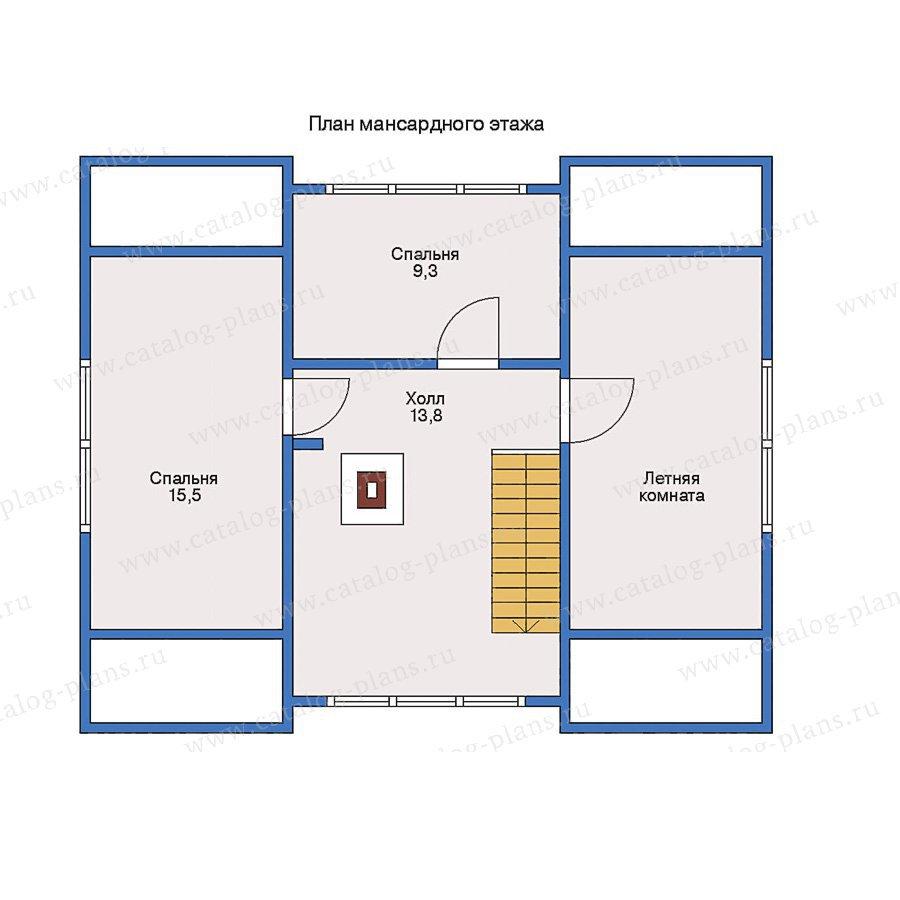 План 2-этажа проекта 70-08