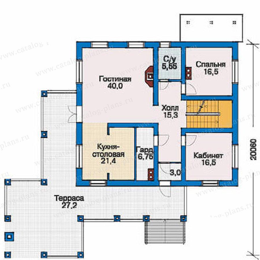 План 2-этажа проекта 80-12