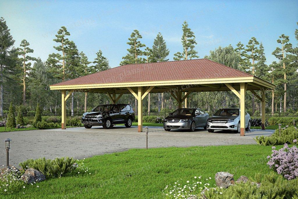 Проект гараж #70-47 материал - нет, стиль скандинавский