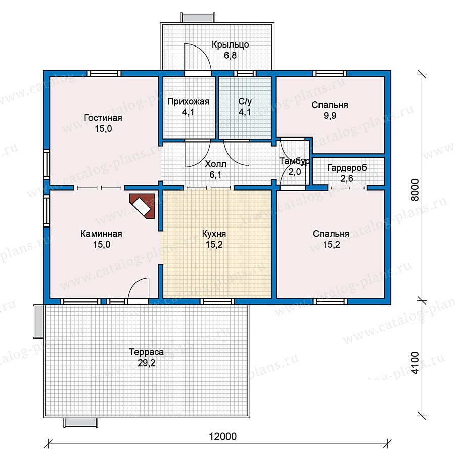План 1-этажа проекта 70-29