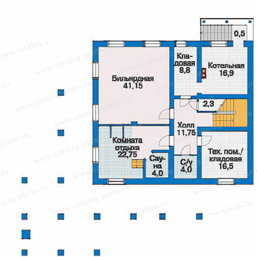 План 1-этажа проекта 80-12