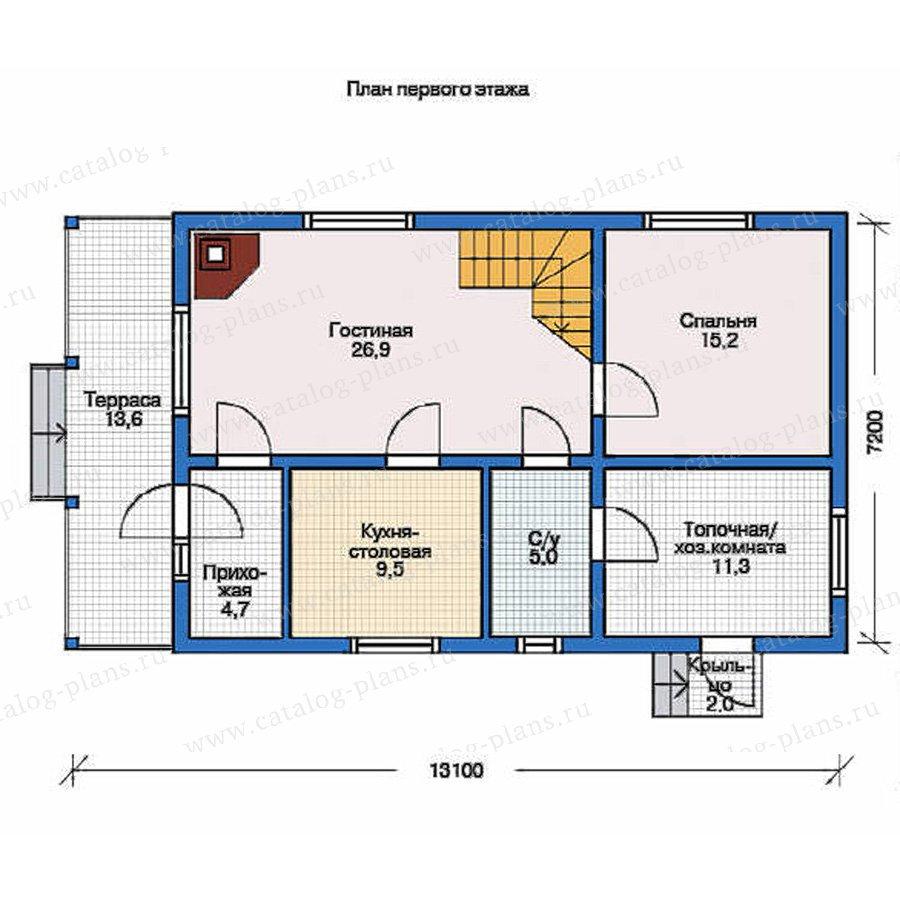 План 1-этажа проекта 70-19