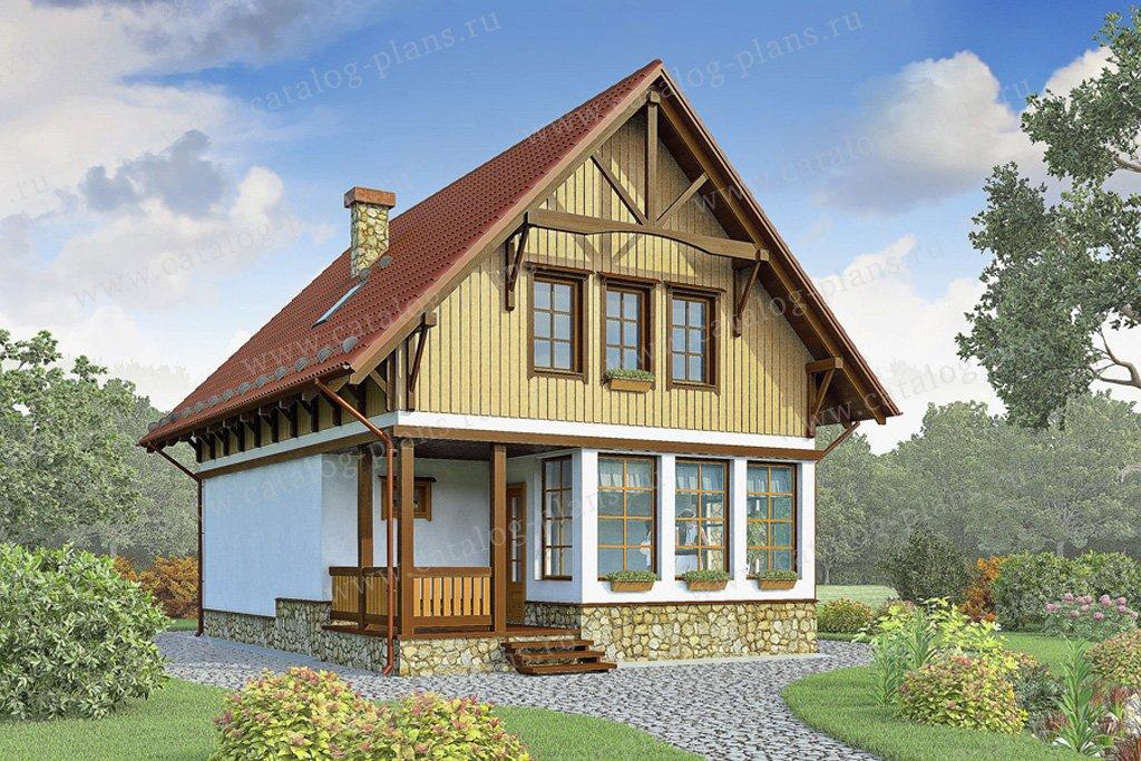 Проект жилой дом #70-45 материал - каркас, стиль немецкий